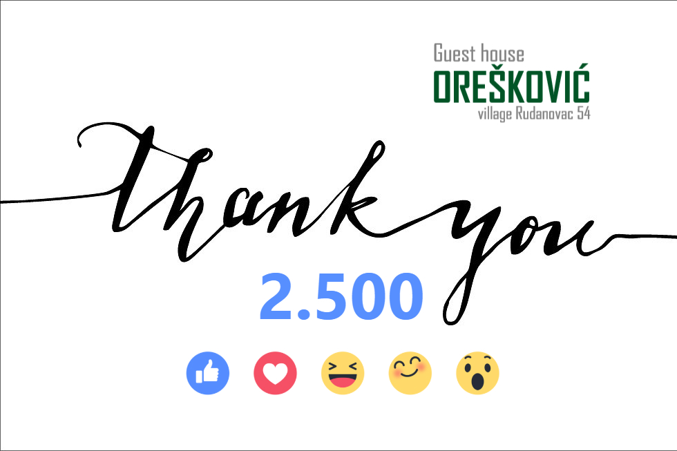 Thank you for 2.500 likes on Facebook