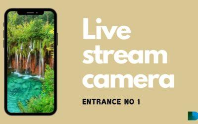 LIVE stream camera @ NP Plitvice lakes
